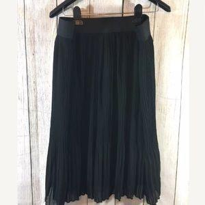 Lane Bryant chiffon long black skirt size 18 20